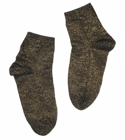 GLITTER SOCKS BLACK GOLD