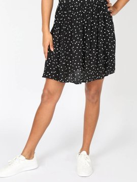 SWIRL ROUND BLACK POLKA DOT SKIRT