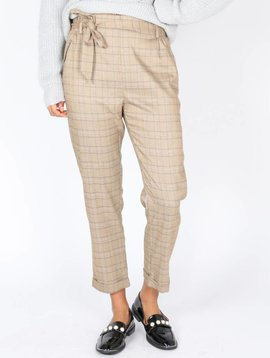 STYLISH BROWNISH CHECKED TROUSERS