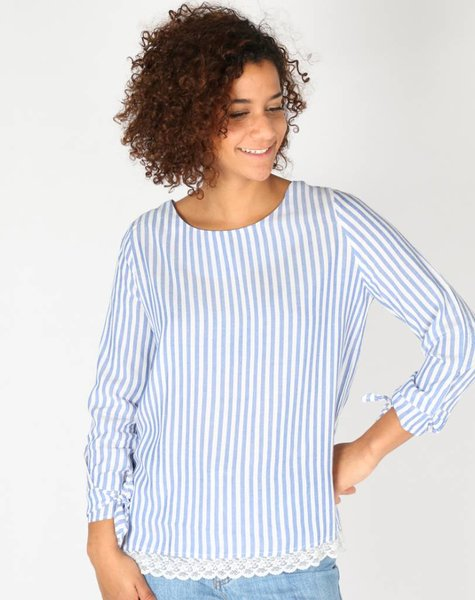 THE RIGHT LACE LINES BLOUSE