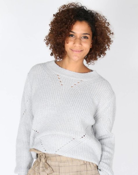 FANCY IS FINE GREY KNIT