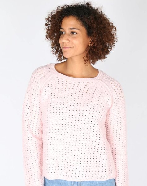 LEAVE A LIGHT SPARKLE PINK SWEATER