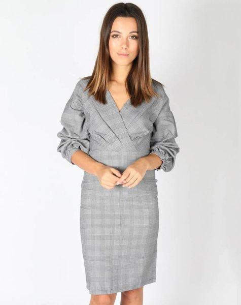 SHOWY CHECKED DRESS