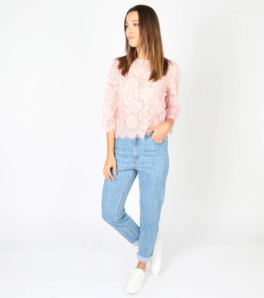 WAY TO AWESOME PINK BLOUSE