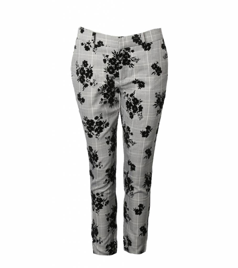 CHECKED ROSES BLOOM TROUSERS