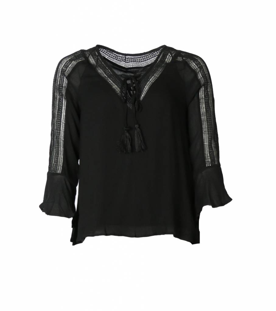 BE A BOHO GIRL BLOUSE BLACK