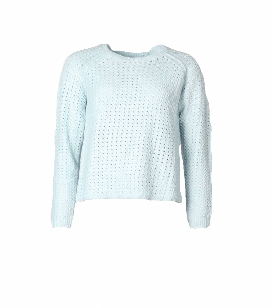 LEAVE A LIGHT SPARKLE BLUE SWEATER