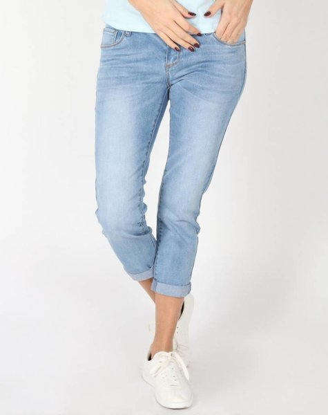 ROLLED BLUE JEANS