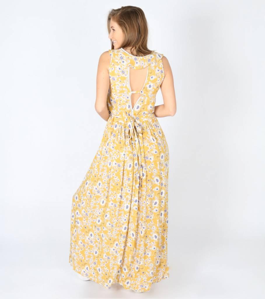 PURPLE FLOWER RAIN DRESS