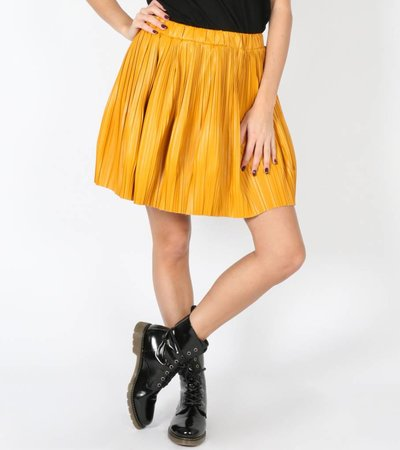 PLAYFUL PLEATED YELLOW SKIRT
