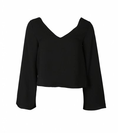 FLY WIDE BLACK BLOUSE
