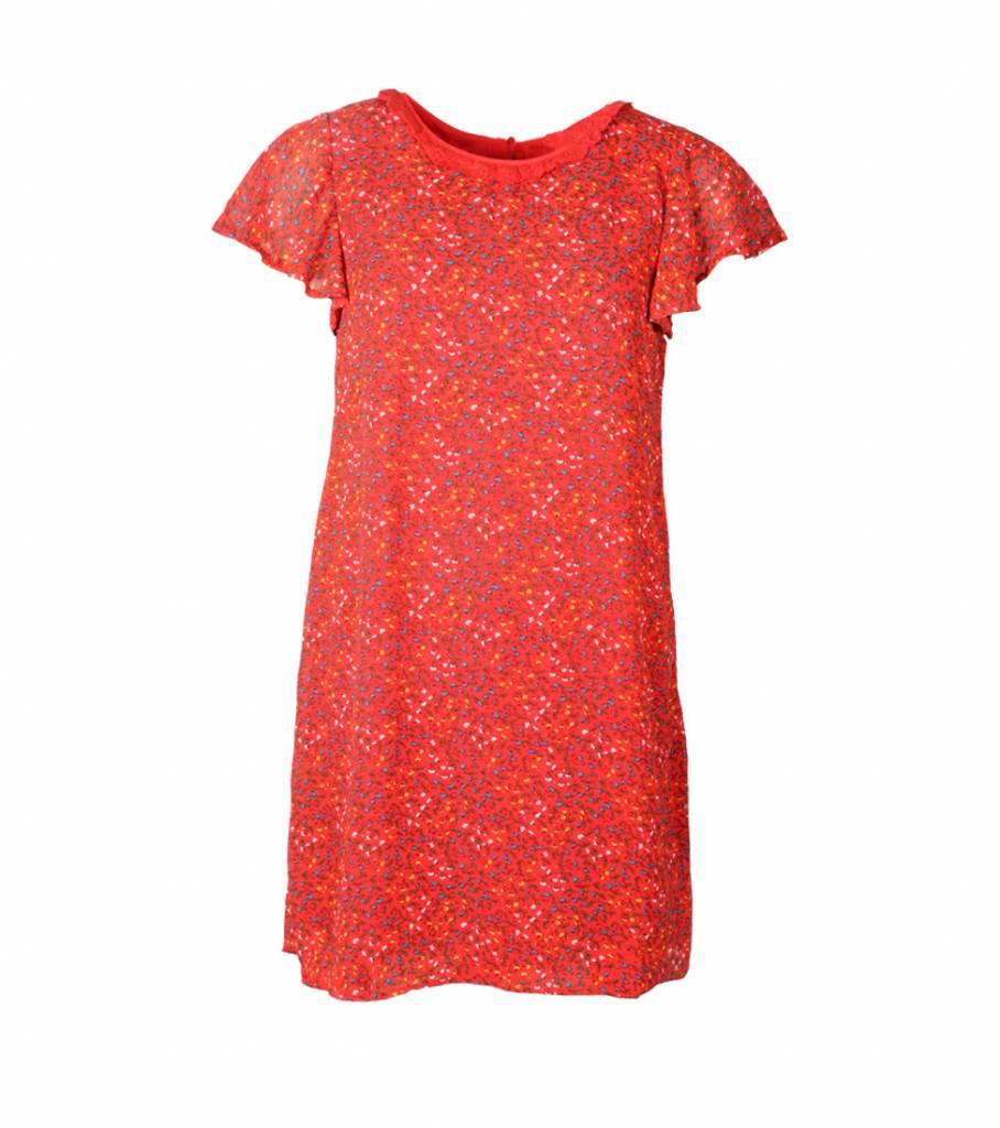 PREPPY IN RED DRESS