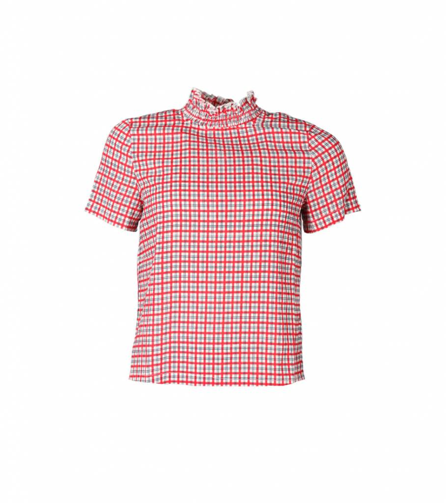 LETS GO PICNICING RED BLOUSE
