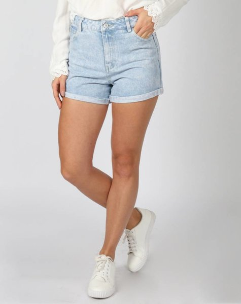 HIGH WAISTED SHORT BLUE