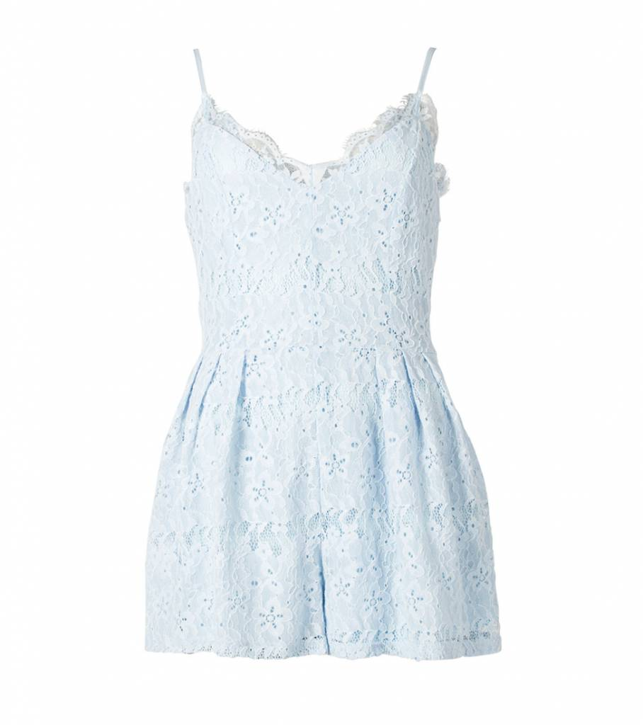 SPECIAL FEELING BLUE PLAYSUIT