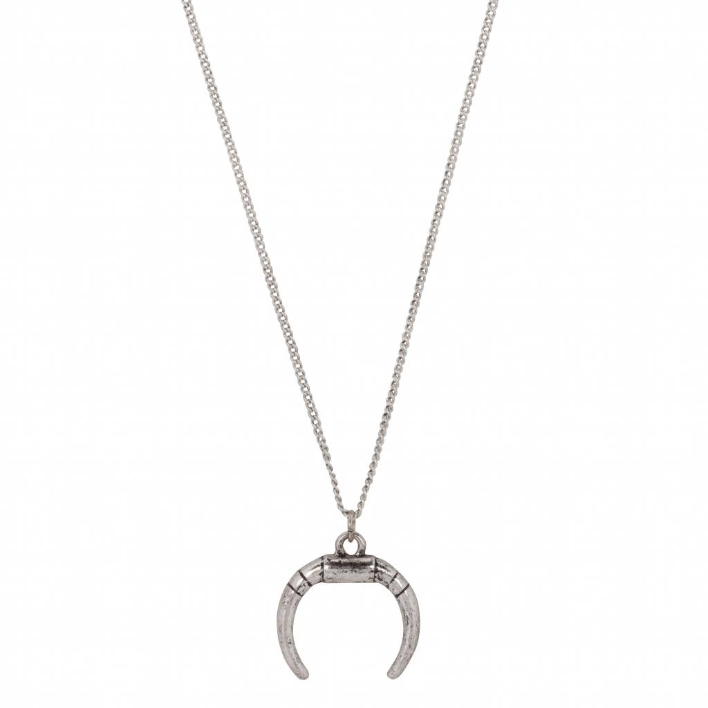 fashion of en pendant clouds tusk necklace silver