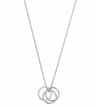 RING IT UP NECKLACE SILVER