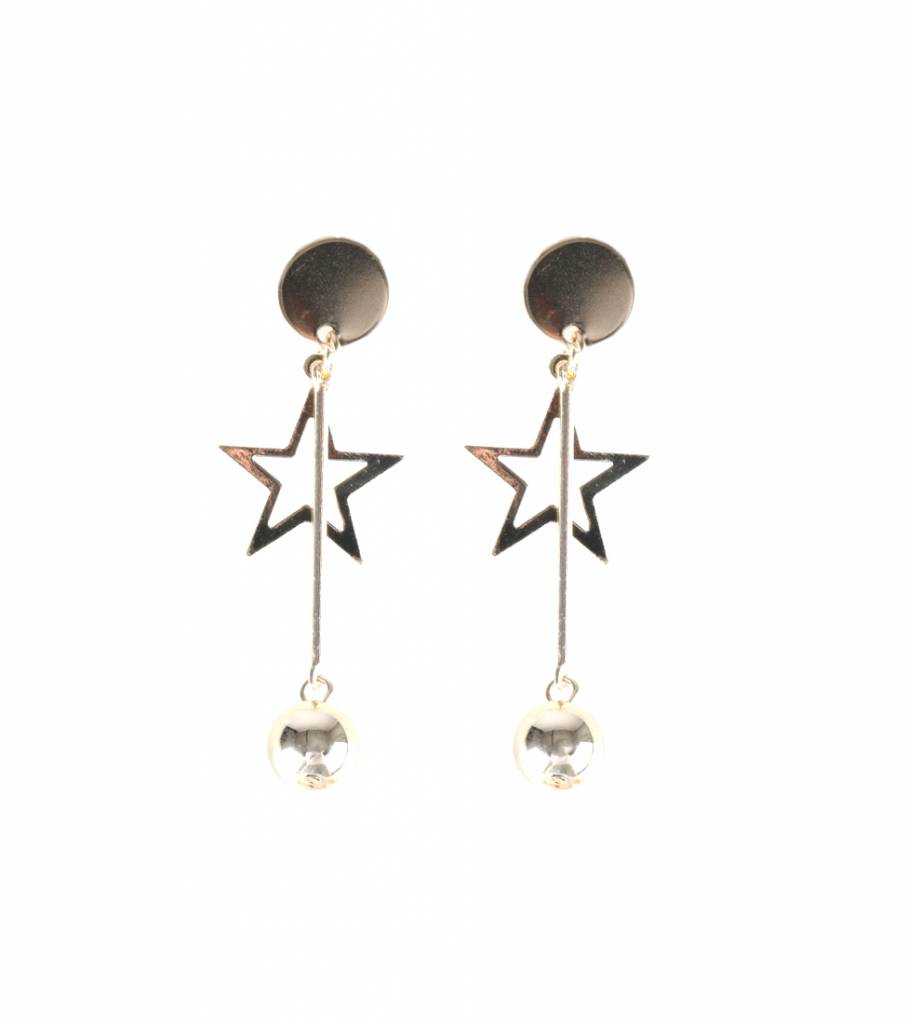 DISCO BALL STAR EARRINGS