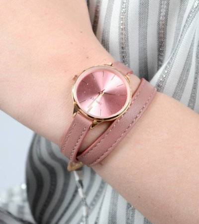 DOUBLE STRAP WATCH PINK