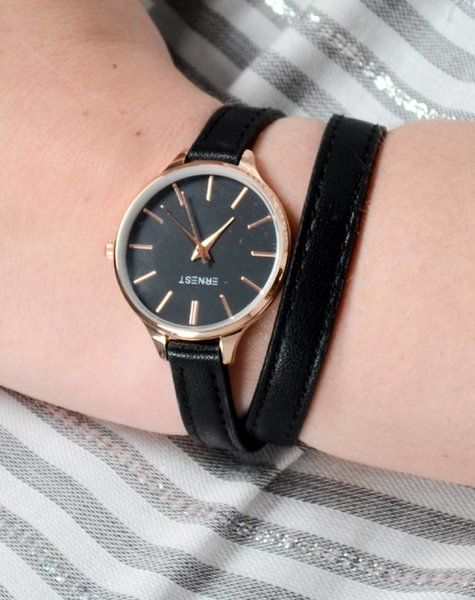DOUBLE STRAP WATCH BLACK