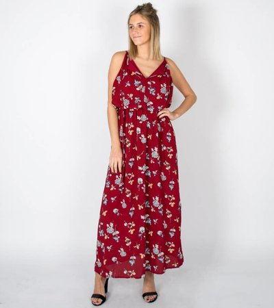 EFFLORESCENCE BURGUNDY  DRESS