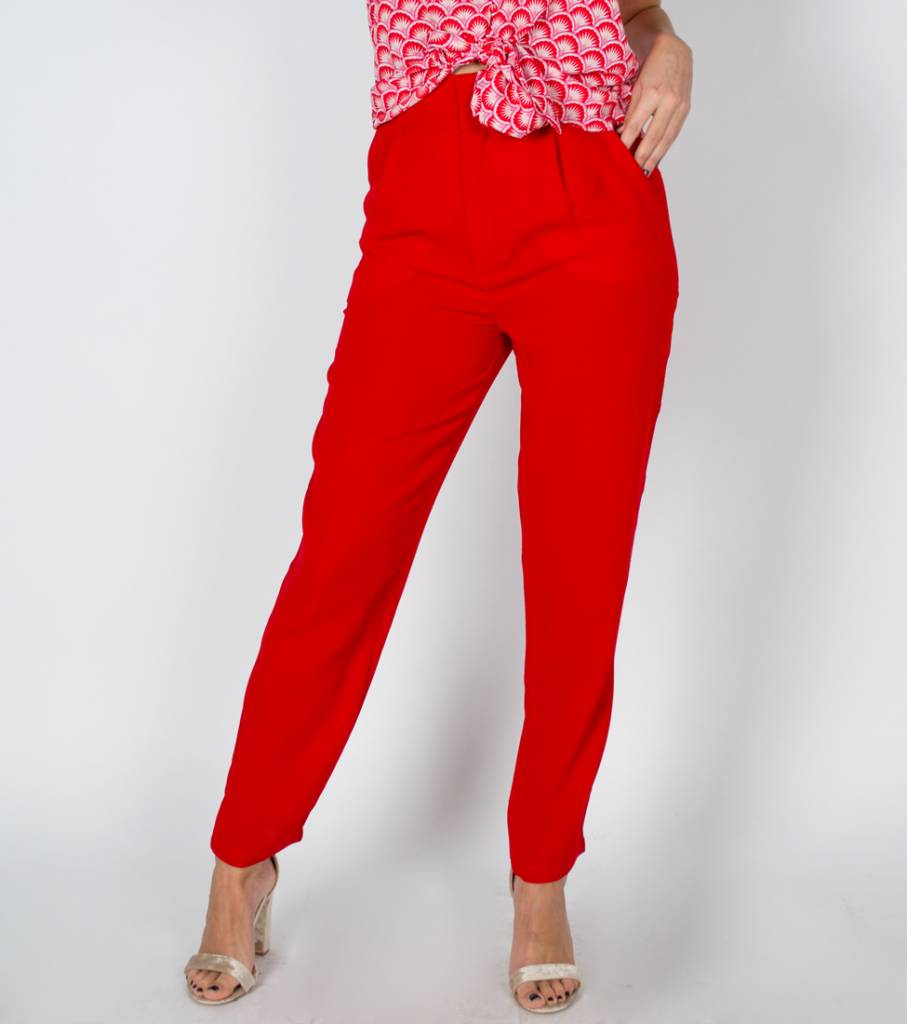 POWERFUL RED CLASSY PANTS