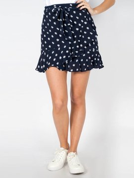 SO SHIMMER NAVY STAR SKIRT