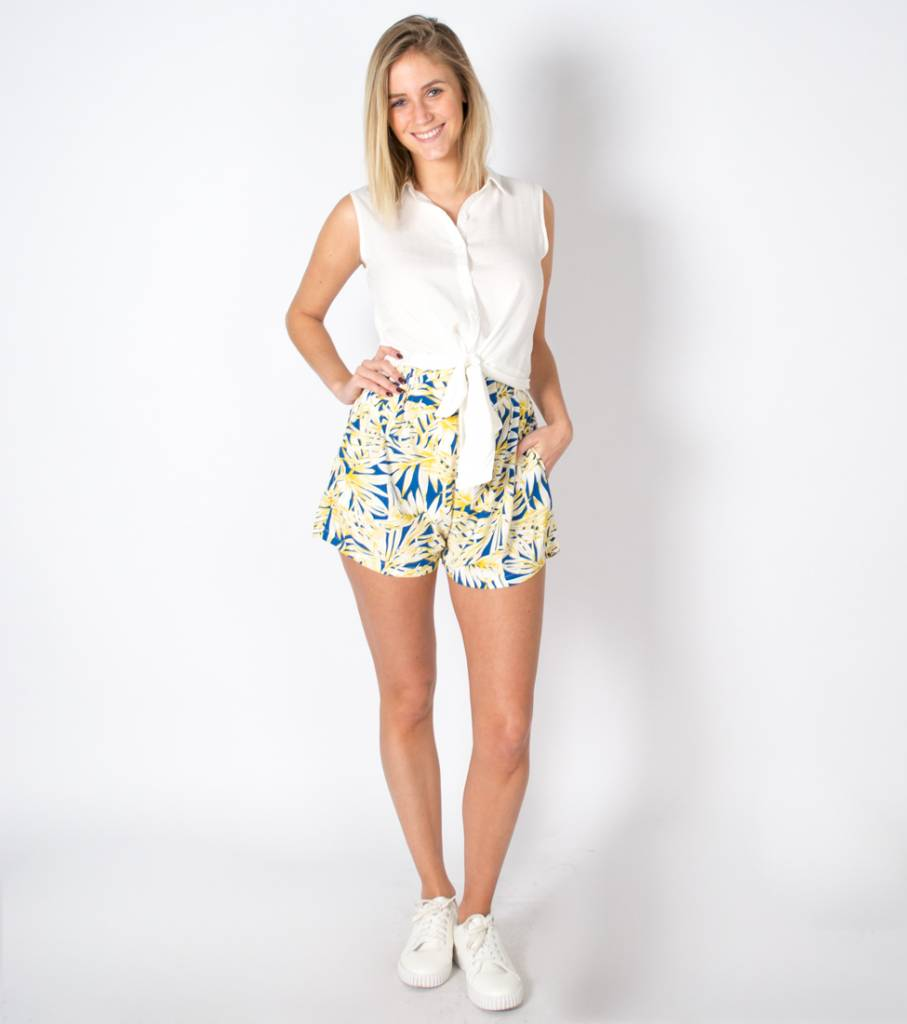 TROPICAL THOUGHTS YELLOW SHORT