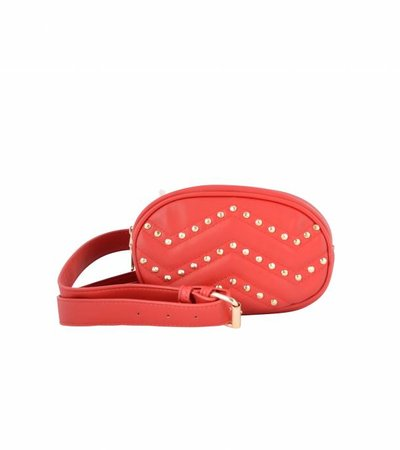PRE ORDER - RED STUDDED FANNY BAG