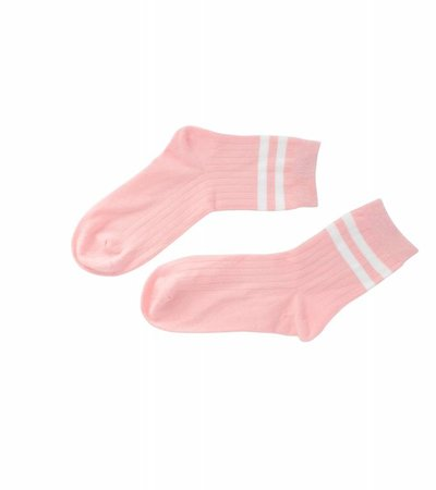 TWO STRIPES PINK SOCK