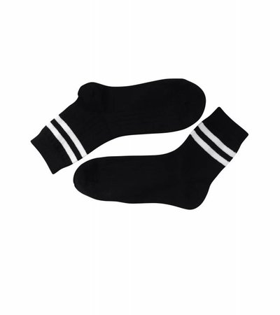 TWO STRIPES BLACK SOCK