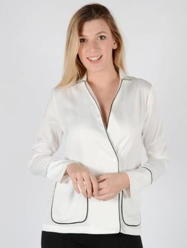 SILKY WHITE BLOUSE