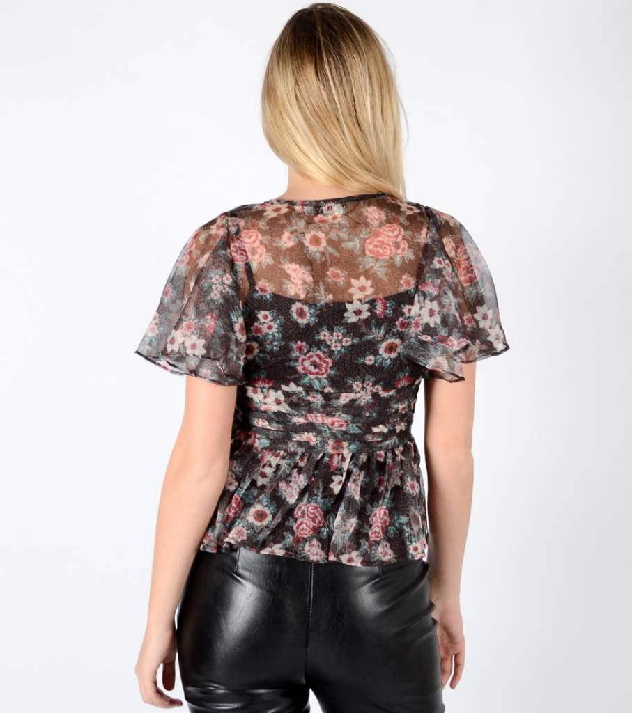 FEEL THE FLOWERS SEE THROUGH TOP