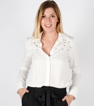 PEARLS ON TOP WHITE BLOUSE