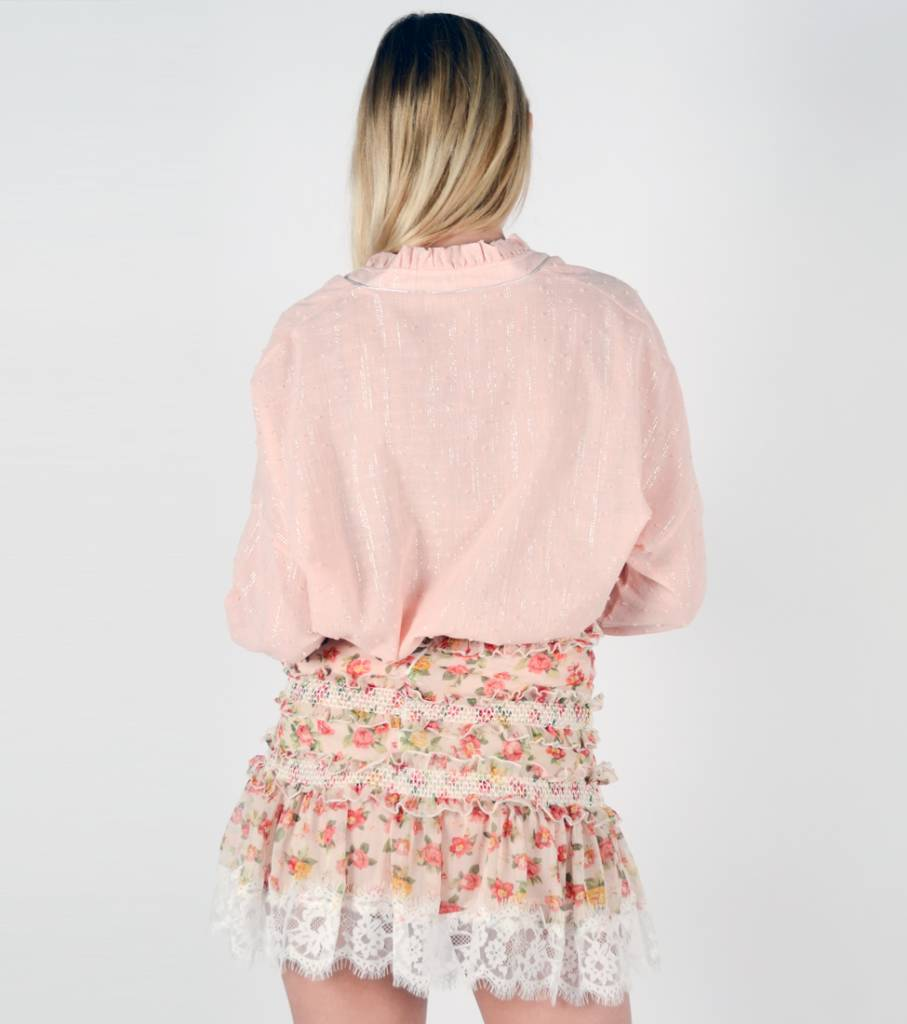 DOTTED SHIMMER PINK SHIRT