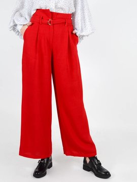 MIND THE FLARE RED TROUSERS