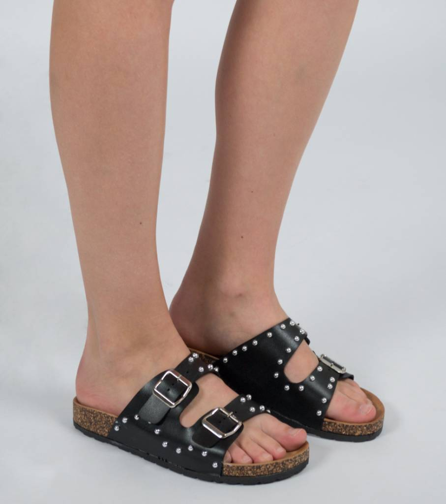 BOLD AND BLACK STUDDED SANDAL