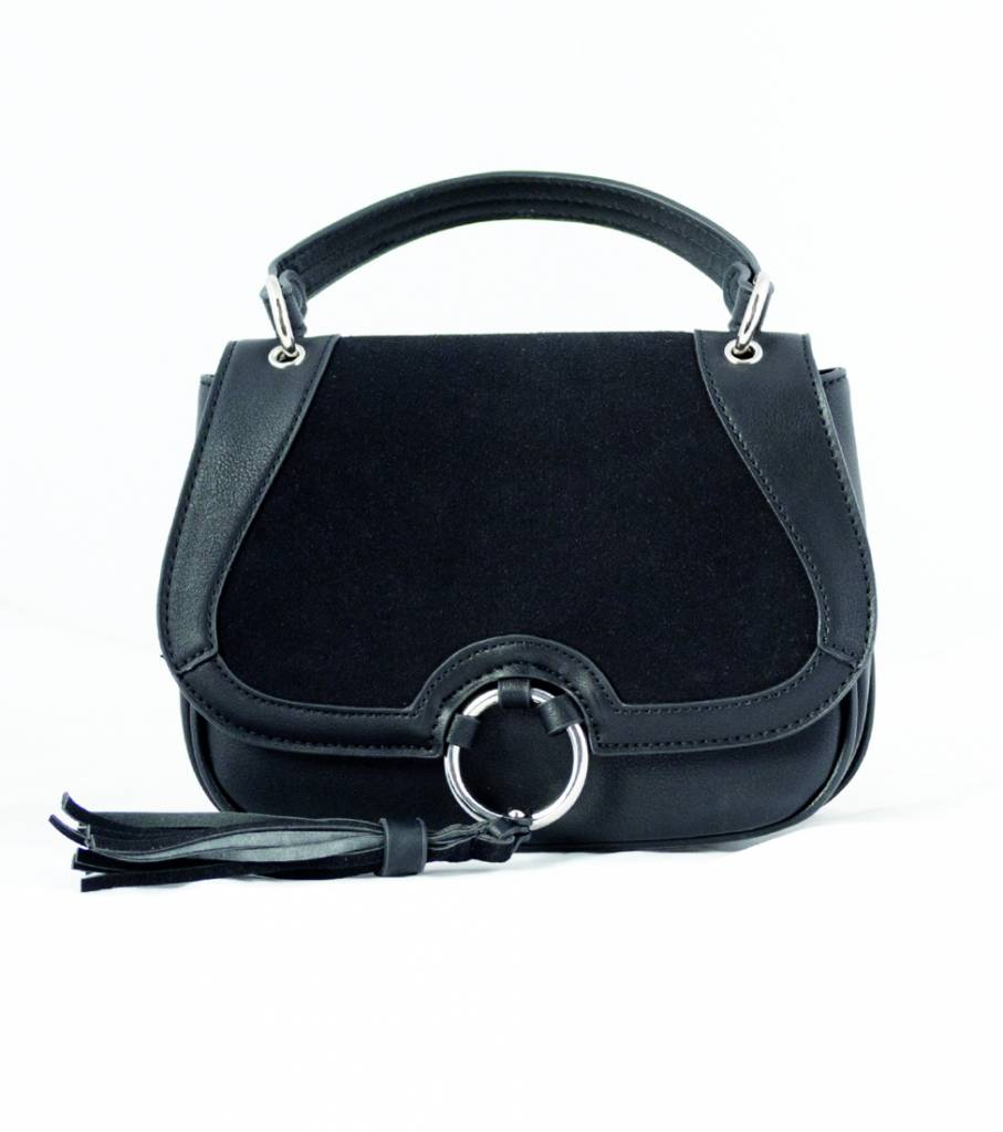 HOLD ME CLOSE BLACK RING BAG