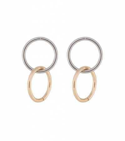 COLORBLOCK CIRCLE EARRINGS