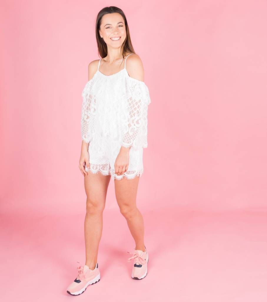 DREAMY WHITE LACE PLAYSUIT