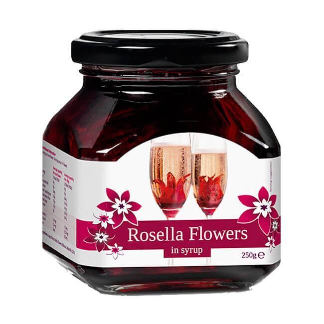 Rosella Flowers Wilde Hibiskusblüten in Sirup 250g oder 750g