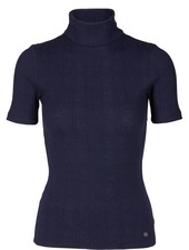 Nümph Blauwe Turtleneck top Leriman