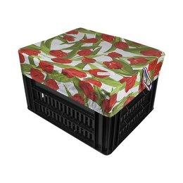 Hooodie Box M Tulips Red voor Kerri Fietskrat