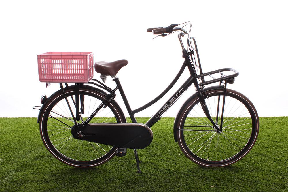 Kunststof fietskratten in alle kleuren
