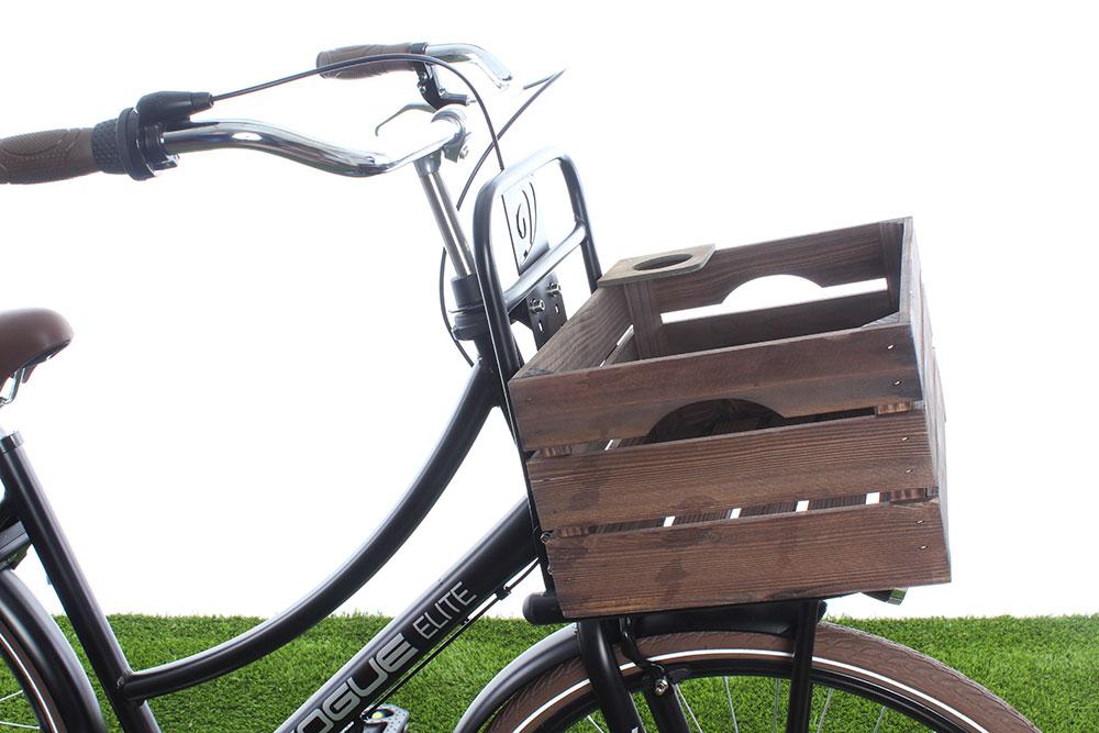Krat voor vóórop de fiets