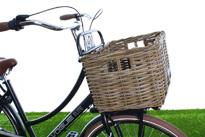 Kratmand op voordrager van fiets
