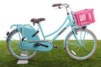 Roze fietskrat op kinderfiets