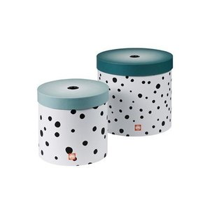 Done by Deer Round box set, Happy dots, 2 pcs., blue Done by Deer