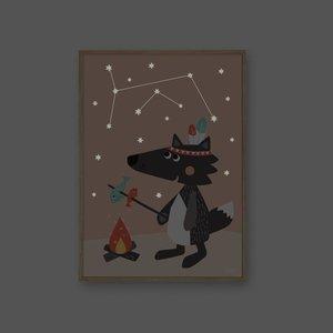 Kipkep Julica Glow in the dark poster Little Wolf