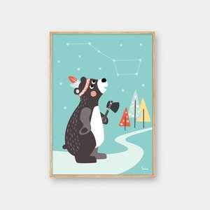 Julica Julica Glow in the dark poster Great Bear